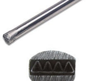 Jewelers or Metal Worker Design Stamp Triangle Border Number 21