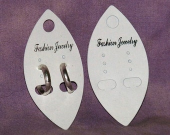 Oval Shaped Earring Cards Package Of 100 SALE While Supplies Last