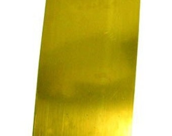 Brass Sheet 22gauge 6 x 12 inch 0.64mm Thick New Lower Price