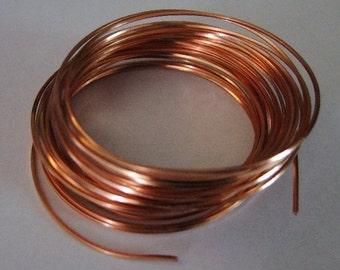 18 GA Half Round Copper Pro Craft Wire 7 Yards