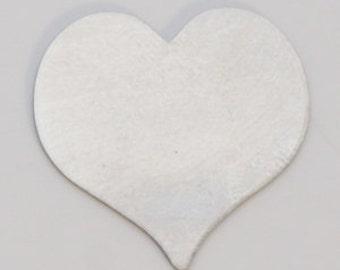 Nickel Silver 13/16 Inch Heart 24ga Package Of 6