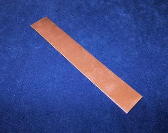 Copper Sheet 18ga 6 in. x 1 in. 1.02mm Thick