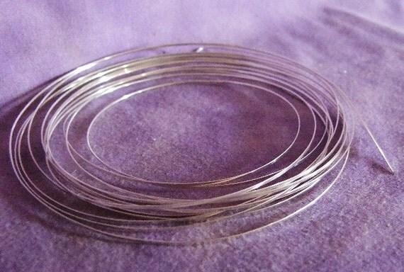 18ga Half Round Silver Plated Pro Craft Wire 4 Yards