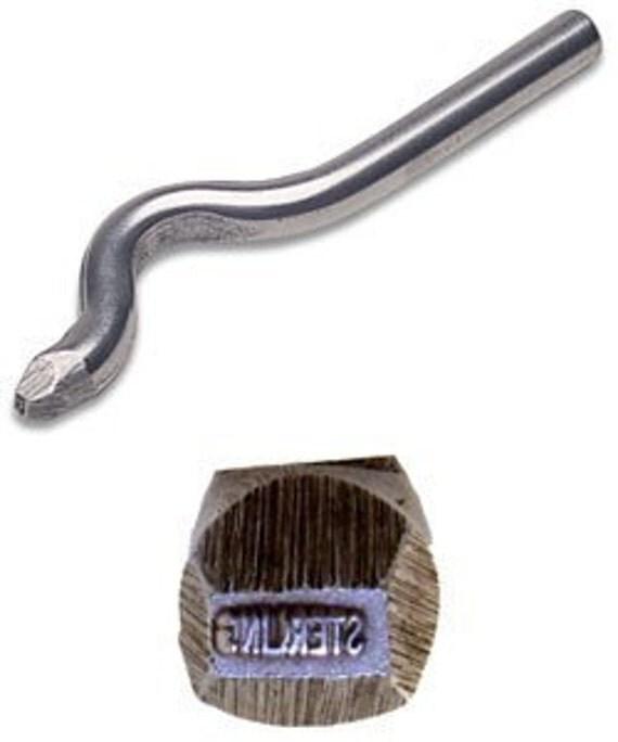 Jewelers Metal Stamp (STERLING)  Bent