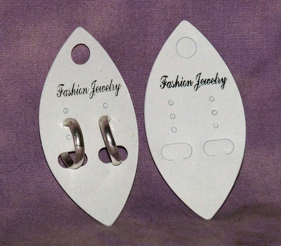 Oval Shaped Earring Cards Package Of 100