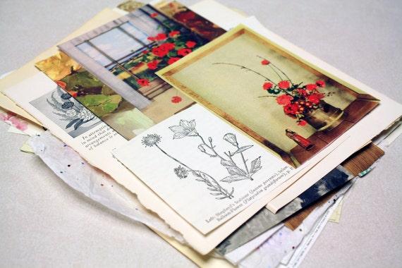 Art Journal Collage Kit - Flower Child Pack