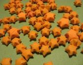 SALE 60  origami Lucky star orange