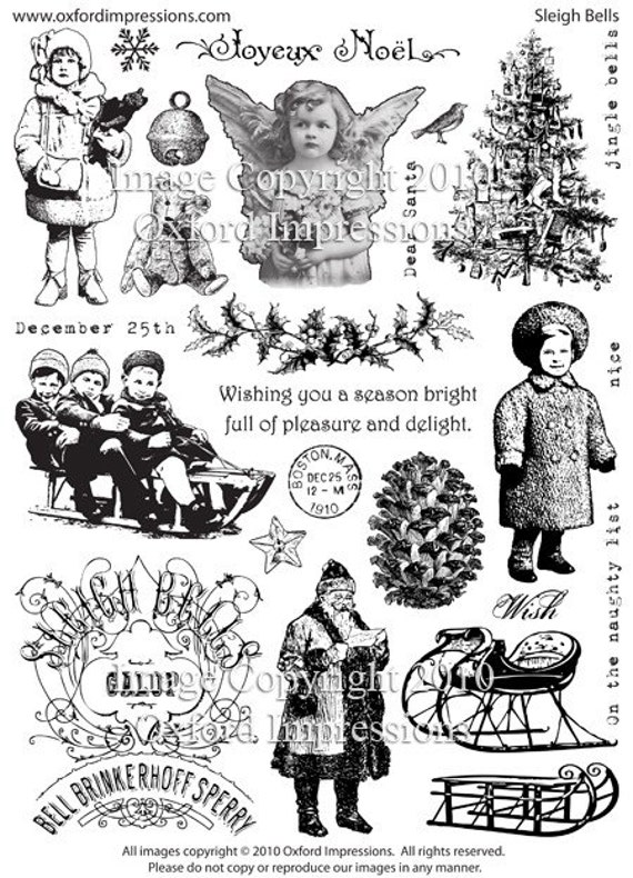 Sleigh Bells Rubber Stamp Collection