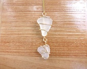 Double tiered sea glass necklace