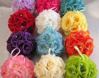 6 Wedding Kissing Balls Pomander Pew Decorations Faux Diamonds Bouquet Centerpieces Your Colors