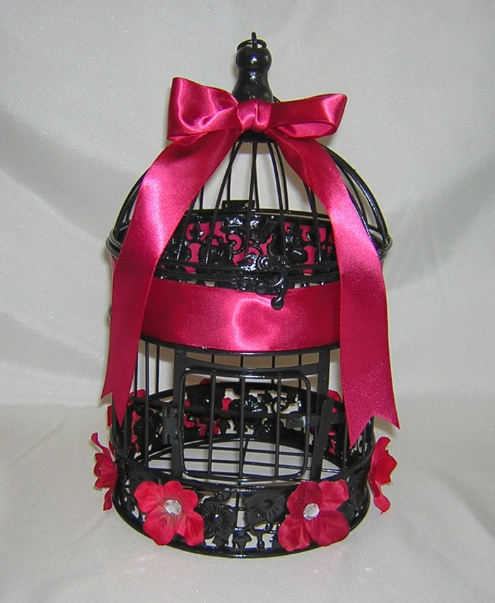 Black Red Wedding Accessories Birdcage Card Holder Bird Cage – Birdcage Wedding Card Box