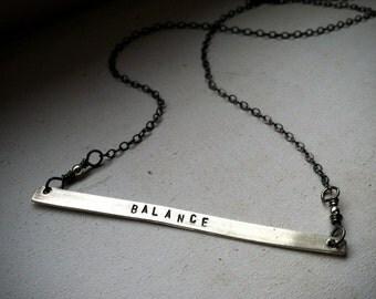 Balance Necklace - Sterling Silver