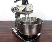 Vintage Chrome Sunbeam Mixmaster Stand Mixer