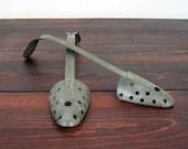Vintage Empire Shoe Forms / Retro Set of Two Metal Shoe Forms