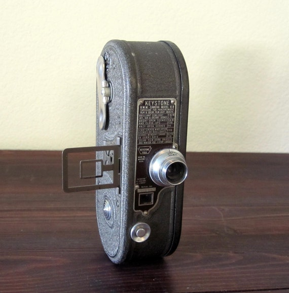 Vintage 1930s Keystone Model K-8 Movie Camera / Retro Home Movie Camera