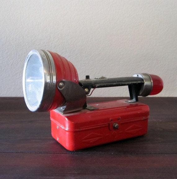 Vintage Red Dual Light Flashlight