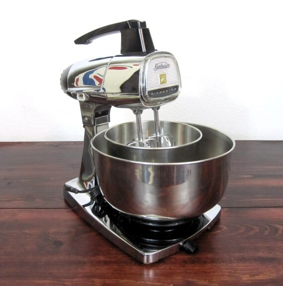 Small Exhibition Stand Mixer : Vintage chrome sunbeam mixmaster stand mixer