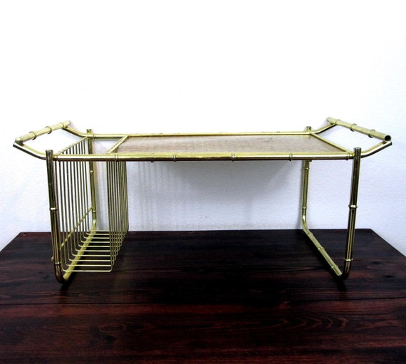Vintage Tray for Breakfast in Bed / Retro Brass Finish Tray