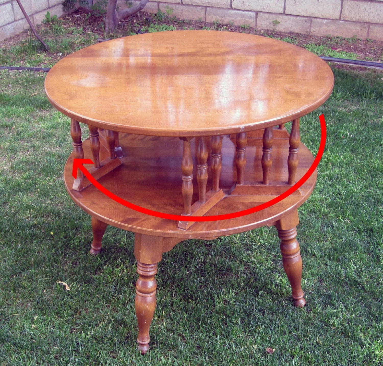 Vintage Baumritter Ethan Allen Rotating Coffee Table / Retro