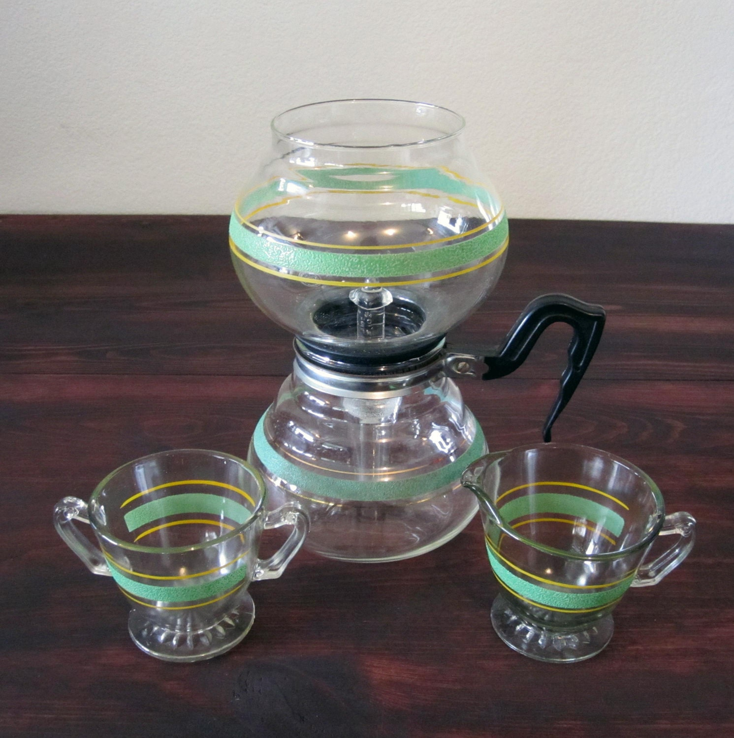 Vacuum Coffee Maker ~ Vintage kent vacuum coffee maker with matching sugar and