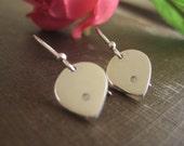 2pt Diamond Earrings in Sterling Silver - Lotus Petals