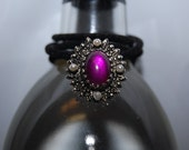 The Enchanted One Upcycled Purple and Black Victorian Style Necklace of Magic and Protection FREE USA SHIPPING