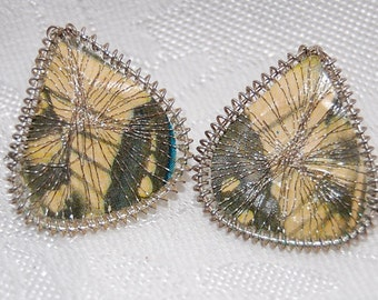 Antique Art Deco Wire Thread Eccentric Glamour Earrings from Germany Pre World War II at Bohemian Angel FREE USA Shipping