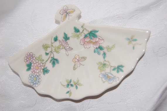 Pastel Butterflies Fan Dish for Your Vintage Vanity or Zen Wedding at Bohemian Angel