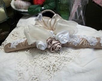 Custom bridail hanger taupe