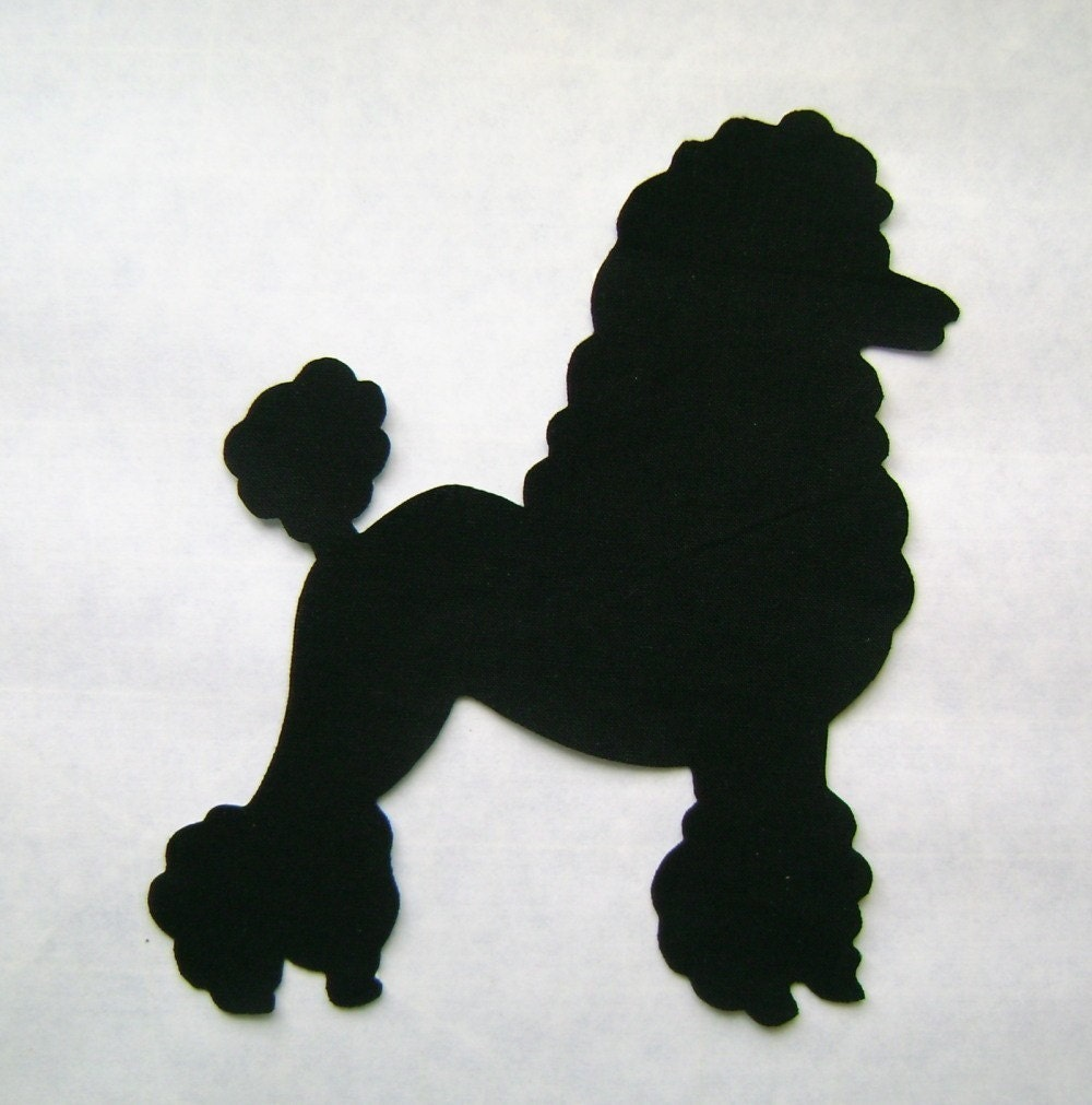 50 39 s poodle patch applique for Poodle skirt applique template