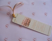 Bookmark - Inspirational Scripture -Word is a Light- Psalm 119 verses 104-106