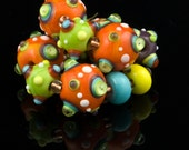 Dots and Spots, Handmade Lampwork Beads, SRA