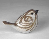 Ceramic Sparrow Sculpture