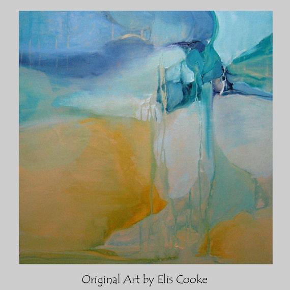 Contemporary Original Art Abstract Mixed Media Modern Painting. Meltdown