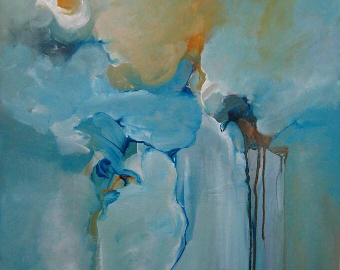 Abstract Painting Fine Art Original Contemporary Mixed Media. aDrift I