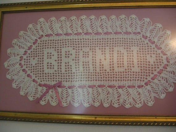 Custom Crocheted Name Doilies Personalized Doily