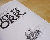 "8x10"" Giclée Art Print: Motivational Quote ""Make it Work"""