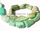 Chrysoprase Light Minty Green nugget Beads 20-30mm 16 inch