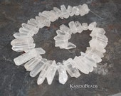 Natural Rock Crystal Point Beads 10-50mm 15 inch strand (aprox 40-50 pieces)
