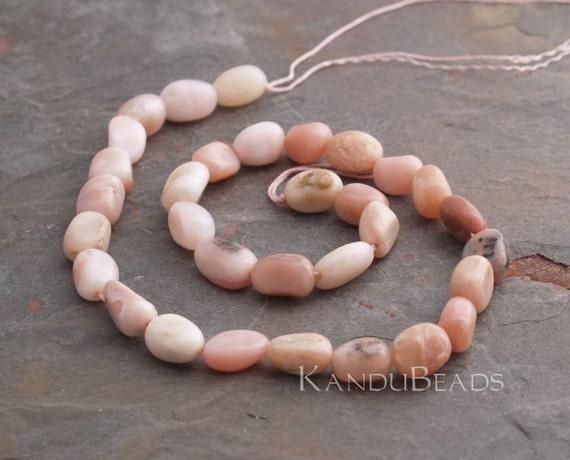 """Pink OPAL Polished NUGGET beads 12MM Peruvian 16"""""""