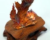 Copper Maple Leaf Sculpture