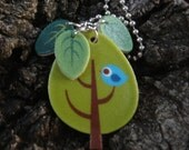 cutecollective green tree necklace