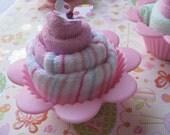 Baby Washcloth Flower Cupcake-Girl