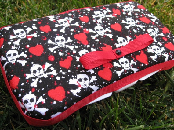 Hearts and Skulls Baby Wipes Clutch