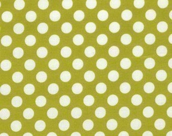Michael Miller Fabric Ta Dot Polka Dots Celery