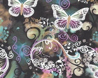 Filigree Flutter Multi Michael Miller Fabric, Choose your cut