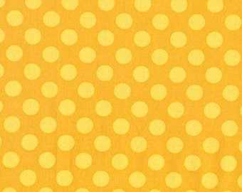 Ta Dot Mustard Polka Dots Michael Miller Fabric