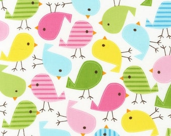 Fat Quarter Only Robert Kaufman Fabric Urban Zoologie Birds Spring Ann Kelle