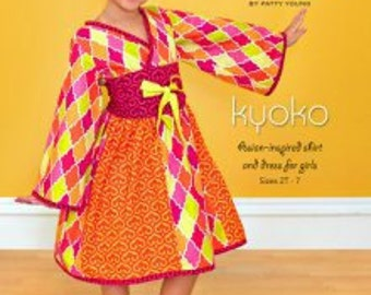 Kyoko Asian Inspired Shirt Dress Modkid Sewing Patten