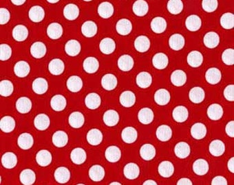 Michael Miller Fabric Ta Dot Minnie Red, choose your cut